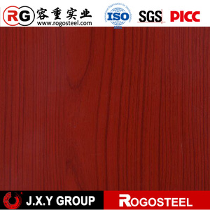 color coated steel coil with wood